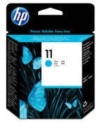Głowica HP C4811A nr 11 do  Business Inkjet, Color Inkjet, Designjet - cyan - rok 2016 na opakowaniu