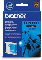 Tusz BROTHER LC1000C do  DCP130C, 330, 350, 357, 540, 560, 750, 770, FAX1355, 1360, 1460, 1560, MFC240, 440, 465, 660, 680, 845, 885, 3360, 5460, 5860 - cyan