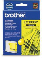 Tusz BROTHER LC1000Y  do DCP130C, 330, 540, 770, FAX1355, 1560, MFC240C, 440, 660, 845, 3360, 5860  - yellow