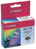 Tusz CANON BCI-24C, 6882A002 do S200, S300, i250, i320, i350, i455, i475D, MPC: 190, 200, MP: 100, 130, 360, 370, 390, iP: 1000, 1500, 2000 - kolorowy