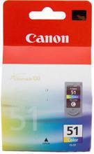 Tusz CANON CL-51, 0618B001 do MP150, 160, 170, 180, 210, 220, 450, 460, MX300, 310, iP1200, 1300, 1600, 1700, 1800, 2200, 2600, 6210, 6220 - kolorowy