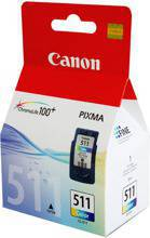 Tusz CANON CL-511, 2972B001 do MP230, 240, 250, 252, 258, 260, 270, 272, 276, 280, 282, 287, 330, 480, 490, 492, 495, 497, 499, MX320, 330, 340, 347, 350, 357, 360, 366, 410, 420, iP2700, iP2702 - kolorowy