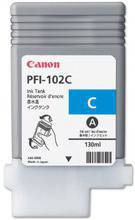 Tusz CANON PFI-102C, 0896B001 do LP17, 24, iPF: 500, 510, 600, 605, 610, 650, 655, 700, 710, 720, 750, 755, 760, 765 - cyan