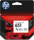 Tusz HP 651 kolorowy - HP C2P11AE ORYGINALNY do DeskJet Ink Advantage 5575, 5645, OfficeJet 202, 252