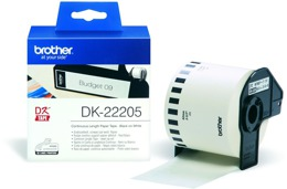 Etykieta BROTHER DK-22205  62mm*30,48m do QL 500, 550, 560, 570, 580, 650, 700, 710, 720, 1050, 1060 - biała