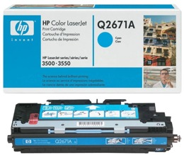 Toner HP Q2671A, nr 309A do LJ 3500, 3550 - cyan