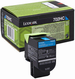 Toner LEXMARK 70C2HC0 - 702HC  do CS310, CS410 - cyan
