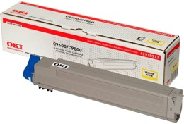 Toner OKI 42918913 do C9600, C9650, C9750 MFP, C9800, C9850, C9850 MFP - yellow
