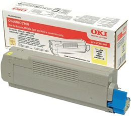 Toner OKI 43381905 do C5600, C5700 - yellow