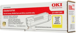 Toner OKI 43872305 do C5650, C5750 - yellow