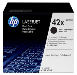 Tonery HP Q5942XD, nr 42X do LaserJet 4250, 4350 - dwupak