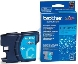 Tusz BROTHER LC1100HY-C do DCP6690, MFC5890, 5895, 6490, 6890 - cyan