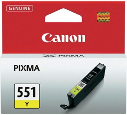 Tusz CANON CLI-551Y, 6511B001 do MG:5450, 5550, 6350, 6450, 6650, 7150, MX:725, 925, Ip:7150, 7250, 8750, 6850 - yellow