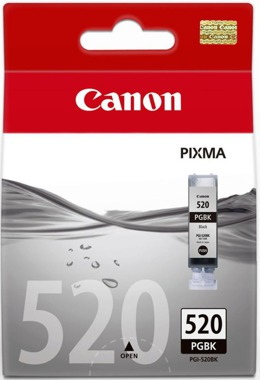 Tusz CANON PGI-520BK, 2932B001 do Pixma MP540, 550, 560, 620, 630, 640, 980, 990, MX860, 870, IP3600, 4600, 4700 - czarny