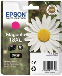 Tusz EPSON T1813, C13T1813 - 18XL do XP30, 102, 202, 203, 205, 207, 212, 215, 217, 225, 302, 305,312, 315, 402, 405, 412, 415 - Magenta