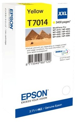 Tusz EPSON T7014 - C13T70144010 DO WP4015, 4025, 4095, 4515, 4525, 4535, 4545, 4595 - yellow