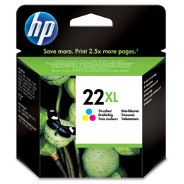 Tusz HP C9352CE nr 22XL do Deskjet D2460, F325, F2180, F4180, FAX 3180, Officejet 5610, PSC 1410 - kolorowy