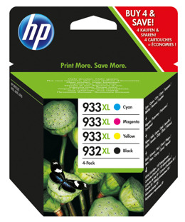 Tusze HP C2P42AE nr 932XL+933XL do 6100, 6600, 6700, 7110, 7612 - komplet CMYK